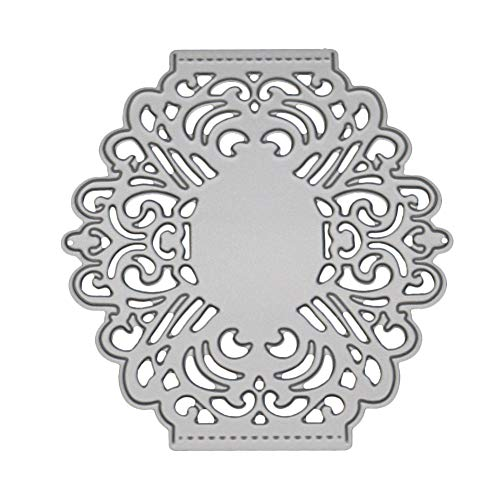 (POQOQ Cutting Dies Cut Metal Scrapbooking Stencils Nesting Die for DIY Embossing Photo - Letter, Flower, for Sizzix Big Shot/Cricut Cuttlebug/and Other Punching Machine G)