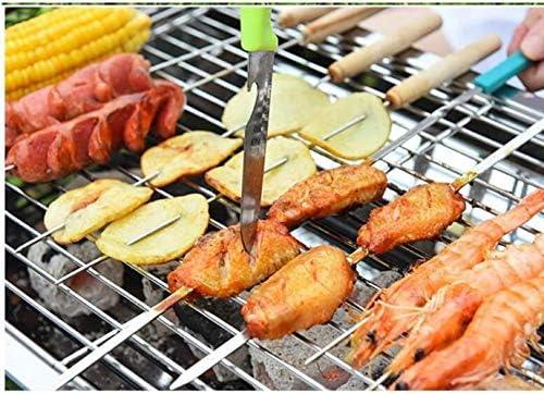 Barbecue HZY Portable Pliant en Acier Inoxydable Charbon Shelf, Jardin extérieur Camping de Pique-Nique Poêle, 40 * 21 * 28cm