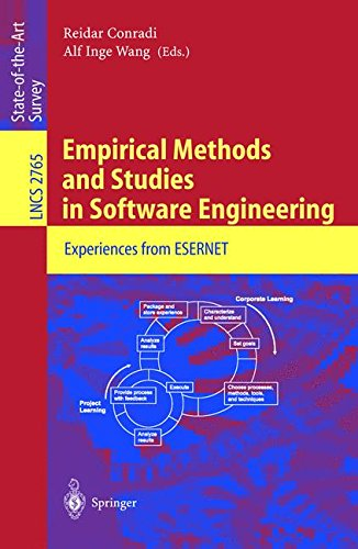 Empirical Methods and Studies in Software Engineering: Experiences from ESERNET (Lecture Notes in Computer Science)