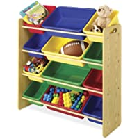 Whitmor Kid's 12 Bin Organizer  Primary Colors