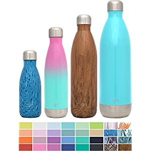 Simple Modern 17oz Wave Water Bottle - Vacuum Insulated Double Wall 18/8 Stainless Steel Hydro Swell Flask - Fusion Collection - Sorbet