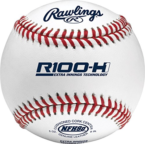 - Rawlings Raised Seams, Cushioned Cork Center, High School Baseballs, (12 Count), R100-H1