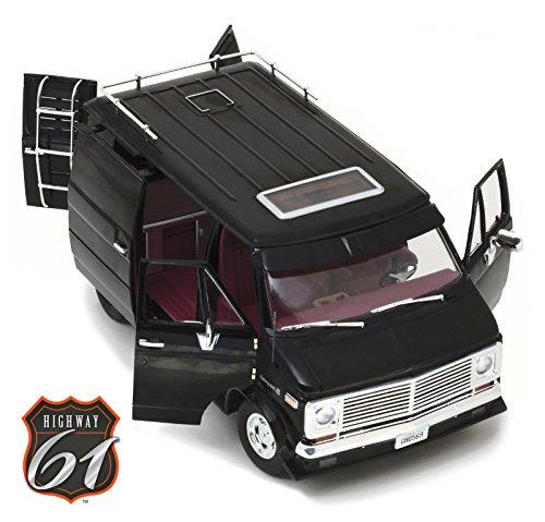 Highway 61 Diecast - 1976 Chevrolet G-Series Van Black Limited Edition 1/18 Diecast Car Model by Highway 61 18002