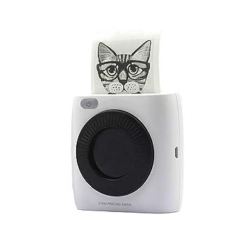 H&T Mini Impresora portátil Bluetooth para Impresora de ...