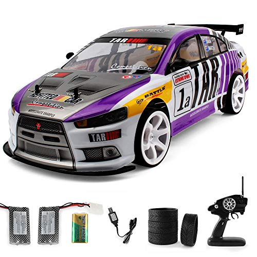 (1/10 Huge RC Car for Adults, 2.4Ghz Electric with LED Headlight Racing Off Road Truck - 4WD High Speed Remote Control 70km/h Racing Drift Car, Electric Toy Car Gift for All Adults & Kids (Purple))