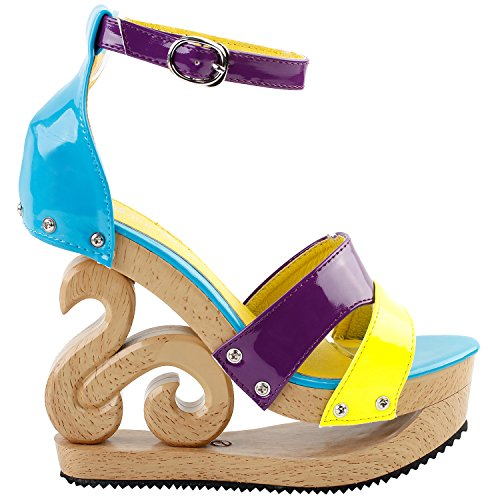 blue bridesmaid dress yellow shoes - 7