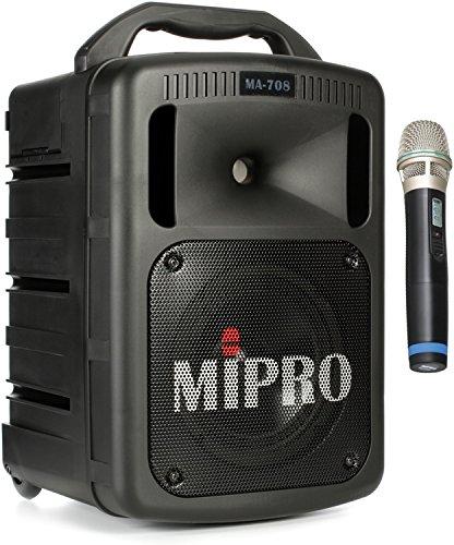 Mipro Portable Pa System (Mipro MA708PADB5AH MIPRO MA-708 Portable Wireless PA System, Black)