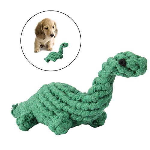 Rope Toys,LANMU Pet Toys Rope,Puppy Rope Chew Toys for Small and Medium Dogs (Green Dinosaur)