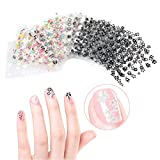 #2: Tinksky 50 Sheets 3D Design Self-adhesive Tip Nail Art Stickers Decals(Random Color Pattern)