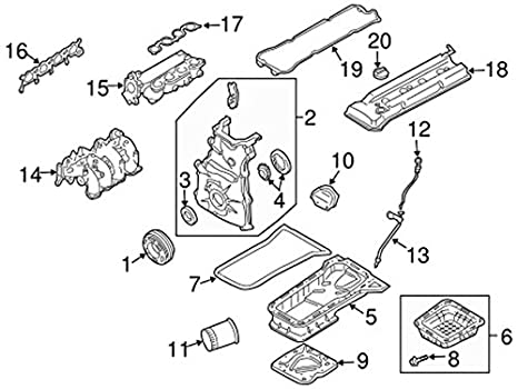 Amazon Com Genuine Nissan 13264 3z001 Valve Cover Assembly Automotive