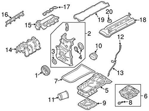 Amazon Com Genuine Nissan 13264 3z001 Valve Cover Assembly Automotive