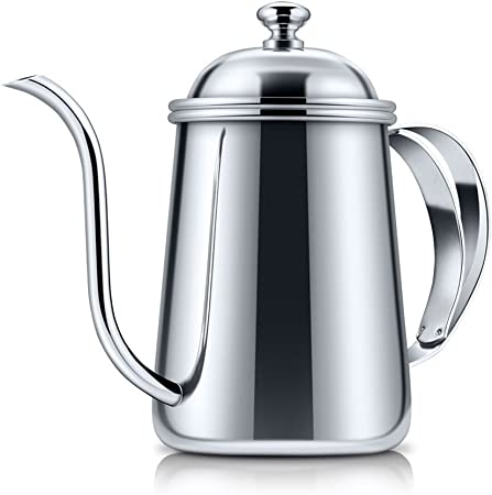 650ml Stainless Steel Pour Over Coffee Kettle Gooseneck Kettle Hand Drip Tea Pot with Long Slender Spout