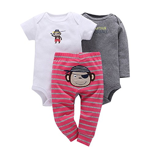 3-Piece Baby Little Character Set-Monkey