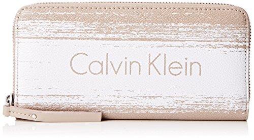 Calvin Blanco Para Brushed Melissa Os Accessori Bolso Mujer Klein Large Ziparound 4xFrz4Cwq