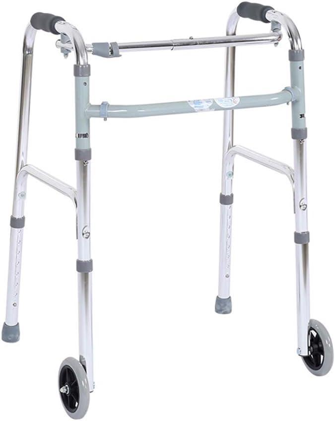 NYPB Ancianos Reposabrazos Marco EstáNdar Andador,DiseñO De Altura Ajustable Plegable PortáTil con Dos Ruedas,Adultos Mayores con Discapacidad,para la Familia y al Aire Libre
