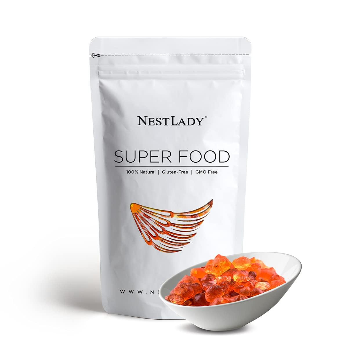 NESTLADY Natural Wild Peach Gum Edible Peach Blossom Tears Tao Jiao Peach resin food additives free 454g / 16oz…