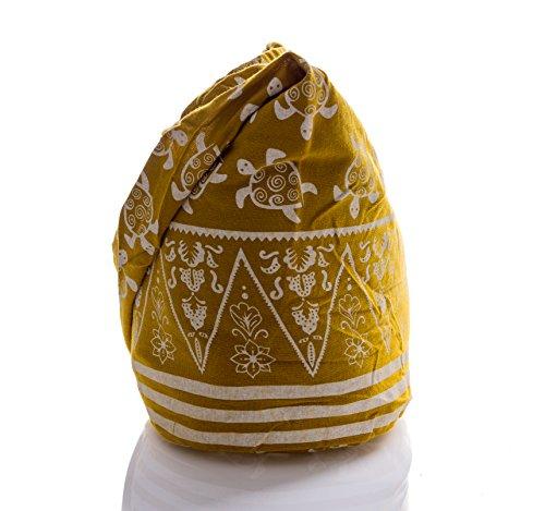 Purse Turtle Avarada Hippie Messenger Hobo Crossbody Thai Yellow Bag Sling Cotton Bohemian qvrw8aOqC