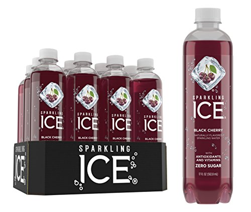 Sparkling Ice Black Cherry Sparkling Water, with Antioxidants and Vitamins, Zero Sugar, 17 Ounce Bottles (Pack of 12) by Sparkling ICE