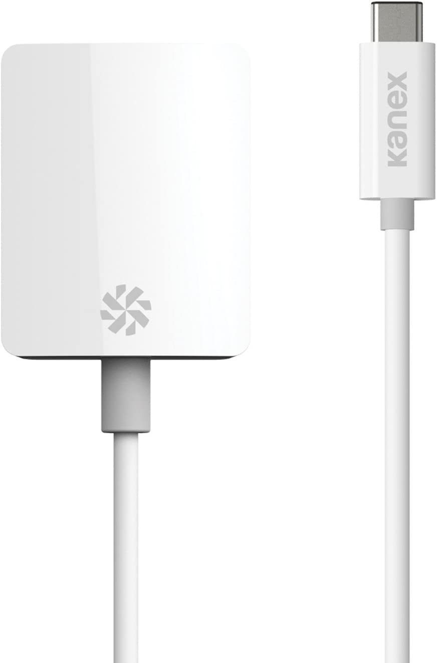 Kanex USB C to VGA Adapter 8.25 Inches (21 cm)-White