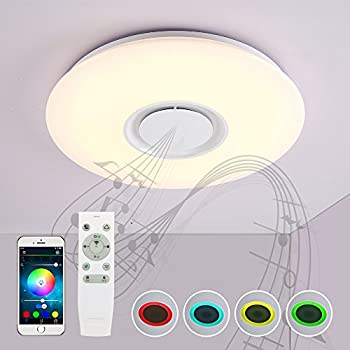 Amazon.com: NATSEN 40W LED Ceiling Light with Remote Control And ...