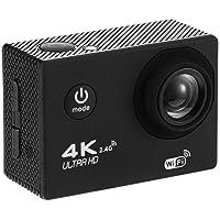 SODIAL 4K WiFi Action Camera 1080P Hd 16Mp Helmet Cam Waterproof Dv Remote Control Sports Video Dvr Black