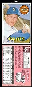 1969 Topps Regular (Baseball) Card# 482 Jim Gosger (WL) of the Seattle Pilots ExMt Condition