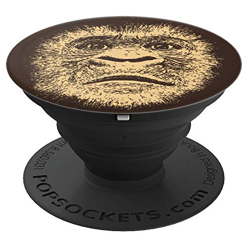 Chimpanzee Face Mask Funny Gift for Monkey Lover Gorilla Ape - PopSockets Grip and Stand for Phones and Tablets]()