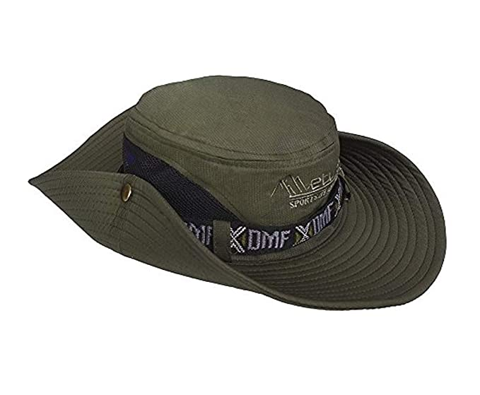 66a8b24bd7530 SZJH Fishing Sun Boonie Hat Summer UV Protection Safari Cap Outdoor  Hunting  Amazon.co.uk  Clothing
