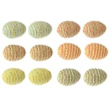 Easter Egg Shaped Decorative Rope Balls Spheres For Bowl And Vase Fillers ...