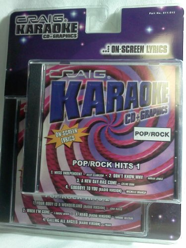 KARAOKE (2 CDs + ON-SCREEN LYRICS/GRAPHICS) POP-ROCK HITS VOLS. 1 & 2 (Celine Lyrics Dion)