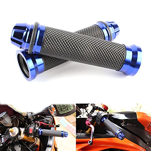 Universal 7/8 22mm Motorcycle Handlebar Grips Gel Rubble For Kawasaki Suzuki Honda Yamaha