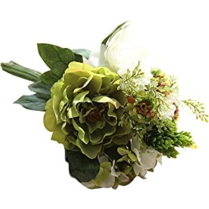 Juesi Artificial Flower, Silk Fake Flowers Peony Floral Wedding Bouquet Bridal Hydrangea Decor 45