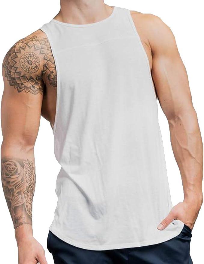 Yying Hombre Gyms Tank Tops Ropa Algodón Slim Fit Camisas Hombres Bodybuilding Undershirt Gimnasio Tops Camisetas: Amazon.es: Ropa y accesorios