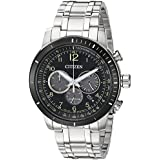 Citizen Men's 'Chronograph' Quartz Stainless Steel Casual Watch, Color Silver-Toned (Model: CA4358-58E)