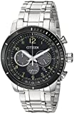 Citizen Men's 'Chronograph' Quartz Stainless Steel Casual Watch, Color:Silver-Toned (Model: CA4358-58E)