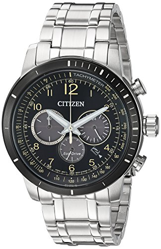 Citizen-Mens-Chronograph-Quartz-Stainless-Steel-Casual-Watch-ColorSilver-Toned-Model-CA4358-58E