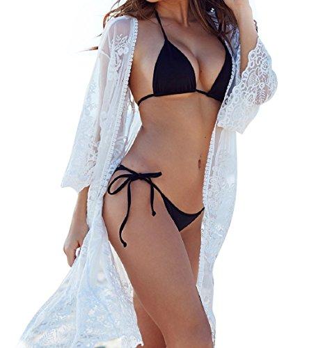 Women's Cover Ups for Swimwear Beach Kimono Lace Coverups