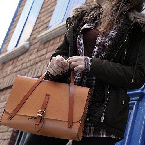 Brown Leather Handmade Women's Handbag by AnyLeatherDesigns