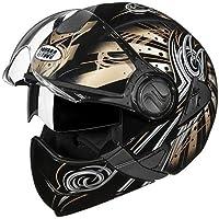 Studds Full Face Helmet Downtown D1 (Black N12, L)