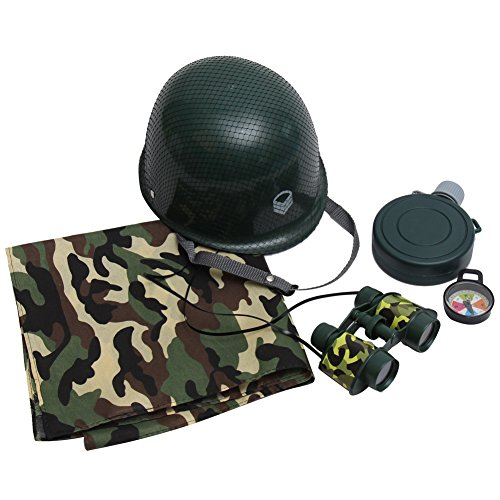 [Kids Army Soldier Dressup Accessory Costume Kit] (Child Army Soldier Costumes)