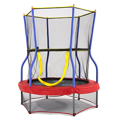 Skywalker Trampolines Mini Bouncer with Enclosure Net  Kids Trampoline  Added Safety Features  Meets or Exceeds ASTM  Made to Last  40-inch, 48-inch, 60-inch