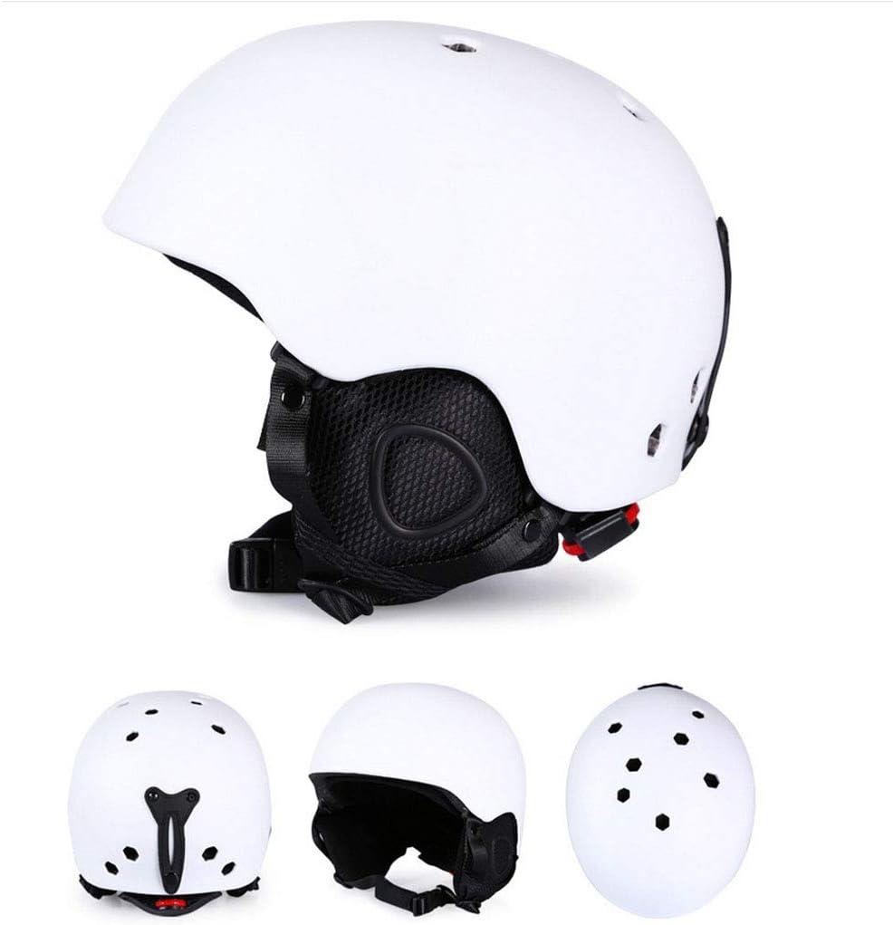 Casque De Ski Casque Snowboard Casque De Ski Réglable,Casque Ski Homme Femme, Matériau ABS, Intérieur EPS Antichoc Tête D'équipement De Sport pour Équipement De Protection De Ski,E,M
