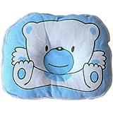 Homgaty Cute Bear Cotton Soft Newborn Baby Prevent Flat Head Pillow Support (Blue)