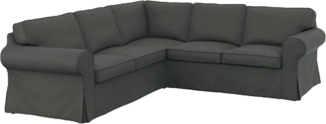 Amazon.com  The Thick Cotton IKEA Ektorp 2 2 Sofa Cover Replacement is  Custom Made for IKEA Ektorp Corner Or Sectional Sofa Slipcover (Durable  Cotton Dark ... 9bbfc9989519