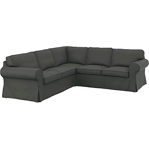 The Dark Gray Cotton Ikea Ektorp 2 2 Sofa Cover Replacement Is Custom Made  For Ikea