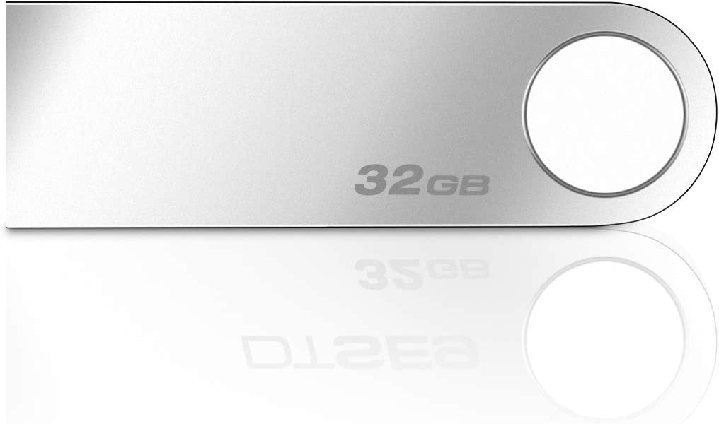 USB 2.0 Flash Drive - Ellipal 32GB USB Flash Drive w/ 100MB/s Transfer Speed, Ideal for Home & Office Use