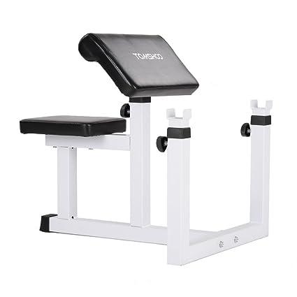 tomshoo Curl banco de peso ajustable bíceps sentado – Banco de musculación para ejercicios de estación