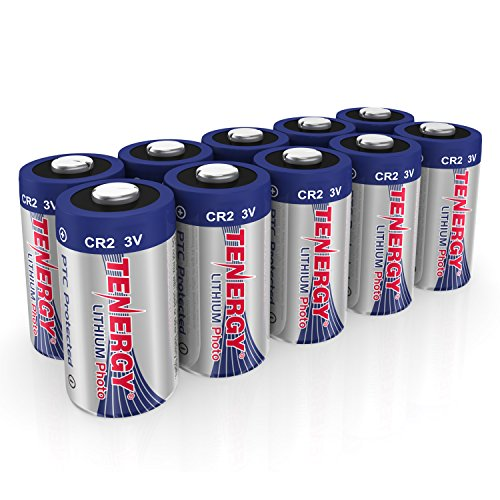Performance Lithium Battery High (Tenergy CR2 3V Lithium Battery Non-Rechargeable PTC Protected High Performance CR2 Batteries for Flashlight, Digital Cameras, Toys, Alarm Systems (Not For Arlo Camera) 10PCS)