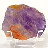 250 Carat Ametrine Facet Rough Amethyst and Citrine Mineral Natural Purple and Orange Quartz Crystal Gemstone - Brazil