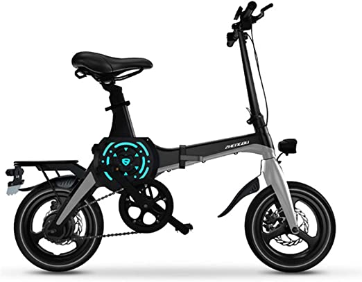 ZBB Bicicleta eléctrica de 14 Pulgadas, Bicicleta de montaña ...